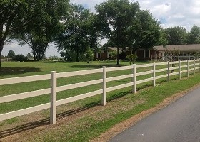 post and rail vinyl horse fence