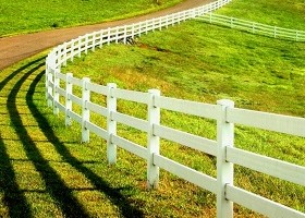 5 Rail horse fence