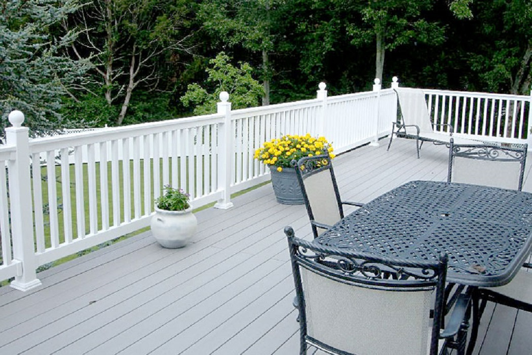 White Vinyl Railing and PVC Stair Railing