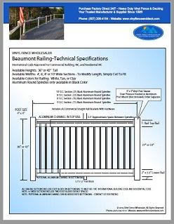 Beaumont Deck Railing