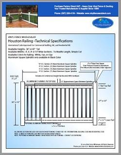 Houston Deck Railing White