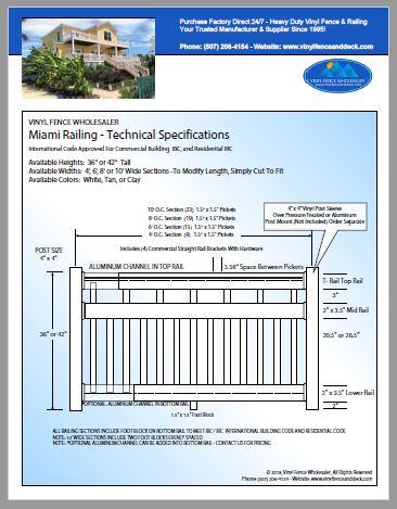 Miami Deck Railing