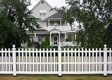 white Providence picket fence