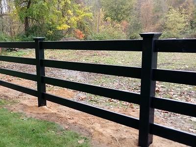 black vinyl horse fencing