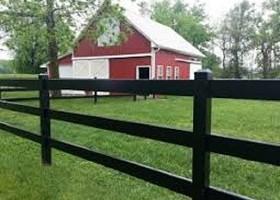 black equestrian fence