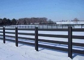 black 4 Rail horse fence