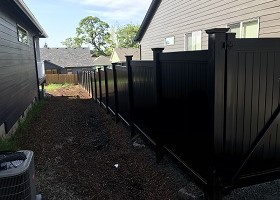 wholesale black vinyl fence