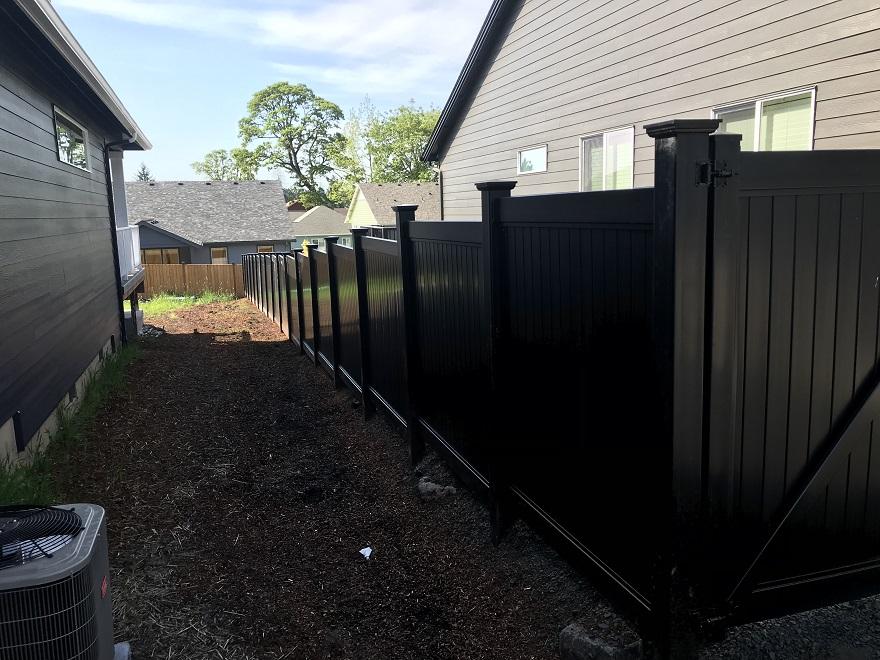 Black Vinyl Fence Black Vinyl Privacy Fence Black