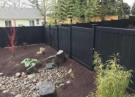 6' Tall black vinyl fence