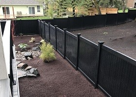 4 foot tall black privacy fence