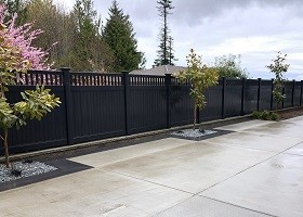 strongest black privacy fence