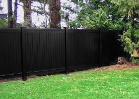 black privacy vinyl fence