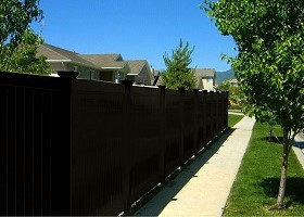 8'tall black privacy fence panels