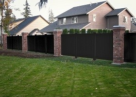 black pvc fence panels