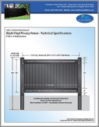 4' tall privacy fence black