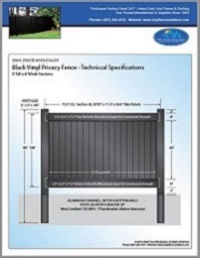 5' tall privacy fence black