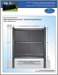 8' tall privacy fence panels black