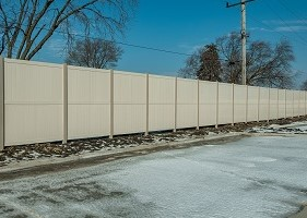10' White Privacy Fence