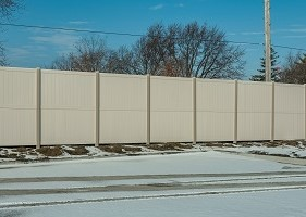 vinyl privacy fence 10' Tall