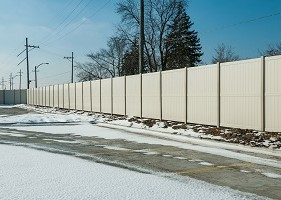 10' Tan Privacy fence