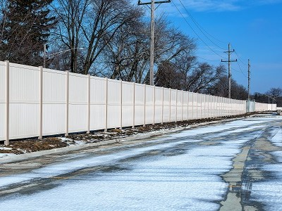 white vinyl fence wholesale