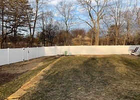 6' White Privacy Fence