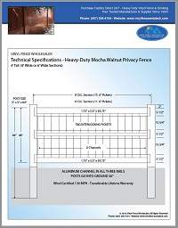 4 foot tall vinyl privacy fence
