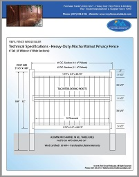 6 foot tall vinyl privacy fence