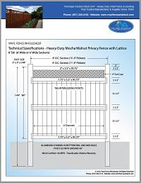8' privacy vinyl fence