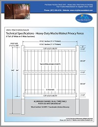 8 foot tall vinyl privacy fence