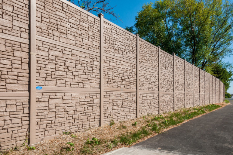 IDOT 12 Tall Simulated Stone by Vinyl Fence Wholesaler