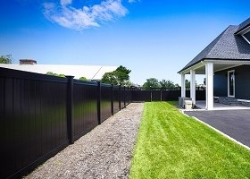 black vinyl privacy fence