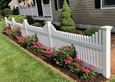 Concord vinyl picket fence panel