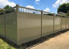 tan Ohio vinyl privacy fence panel