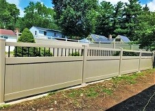 clay color 8' tall ohio privacy fence