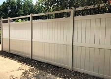 8' tall clay ohio privacy fence