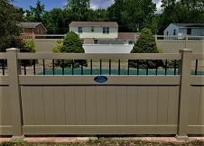 ohio white privacy fence panel