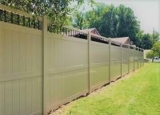 tan vinyl ohio privacy fence