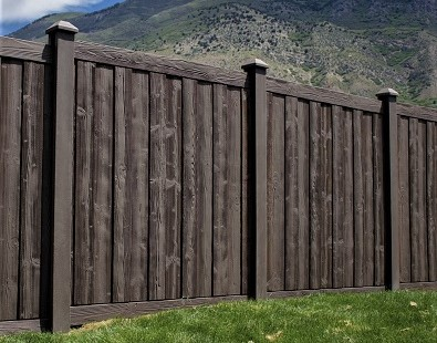 mocha walnut fence