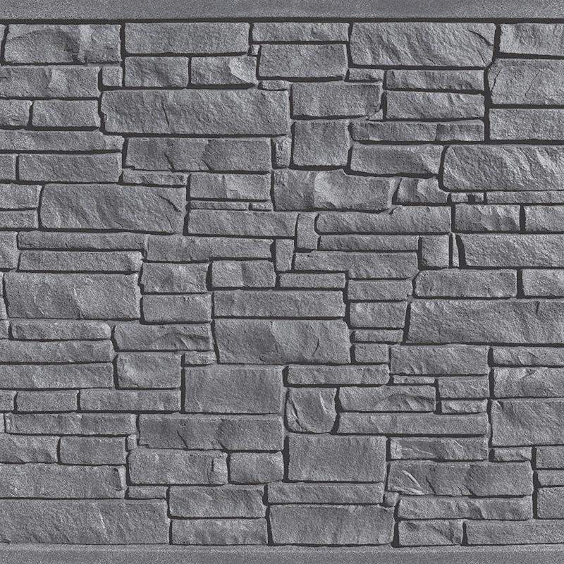 Black Granite simulated stone fence