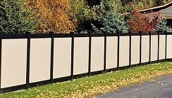 Black and Tan Color Combo Privacy Fence