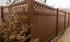 Mocha Walnut Privacy Fence