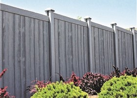 Walnut Brown Sherwood Privacy Fence