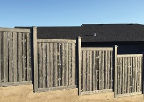 Nantucket Gray Privacy Fence