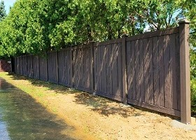 Walnut Brown Ashland Privacy Fencing