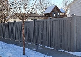 Simulated Wood Privacy Fence 6' Tall