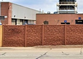 Desert Granite Simulated Stone Fence 8' Tall Sound Wall;