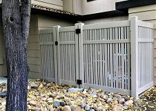 Clay Seneca vinyl pool fence Gate