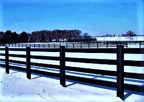 black 4 Rail horse fence